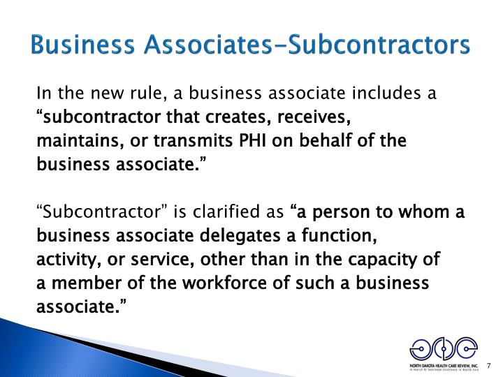 Business Associates-Subcontractors