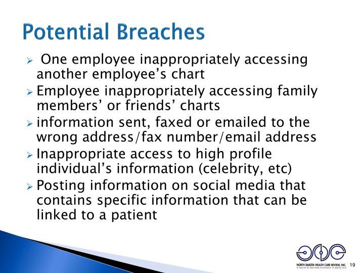 Potential Breaches