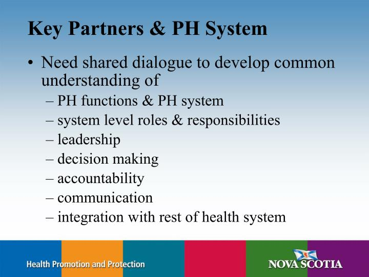 Key Partners & PH System