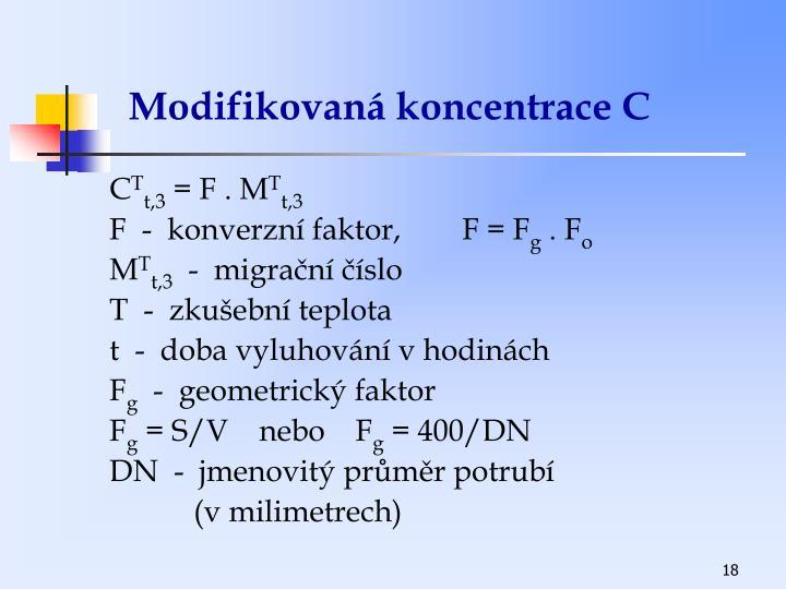 Modifikovaná koncentrace C