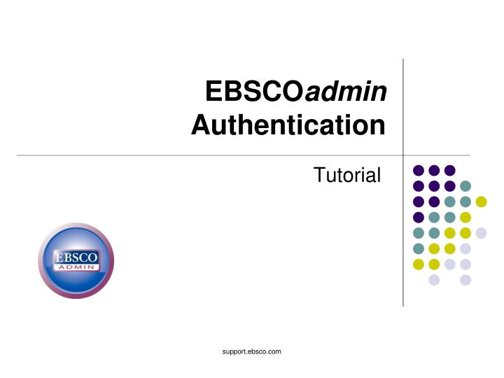 Ebsco admin authentication