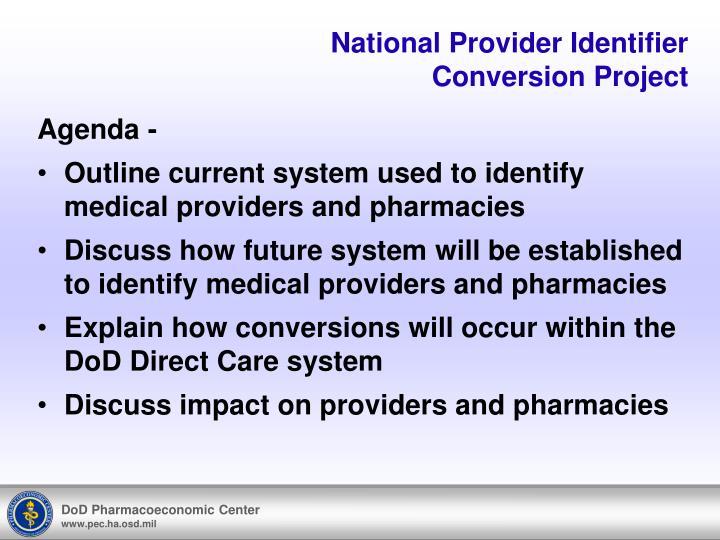 National Provider Identifier