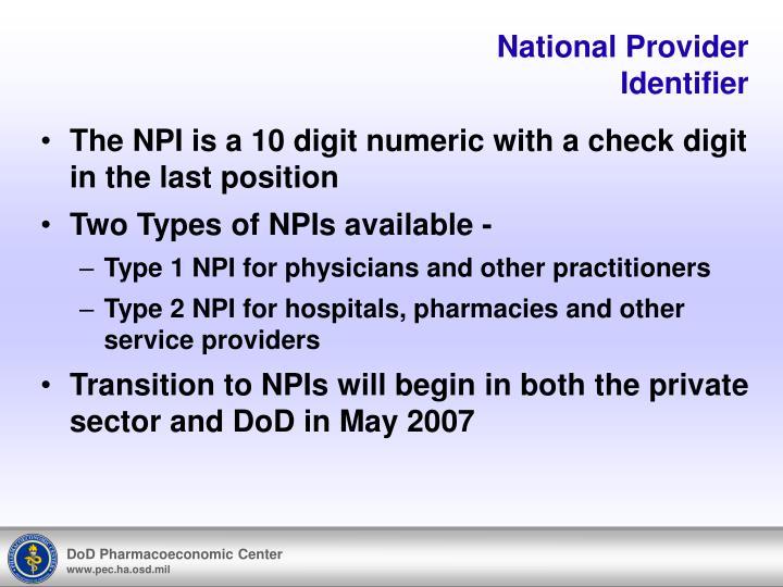 National Provider