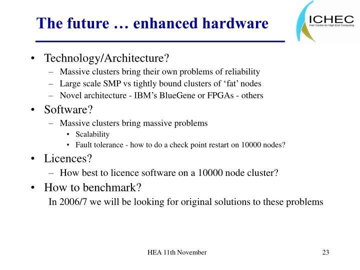 The future … enhanced hardware
