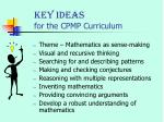 key ideas for the cpmp curriculum