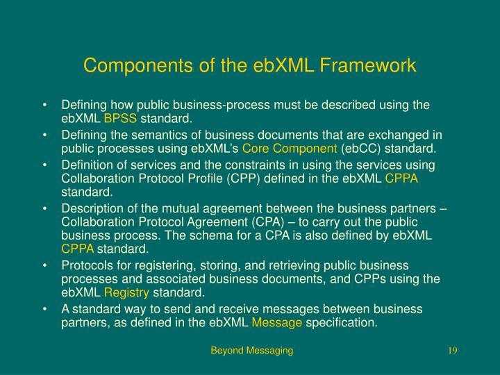 Components of the ebXML Framework