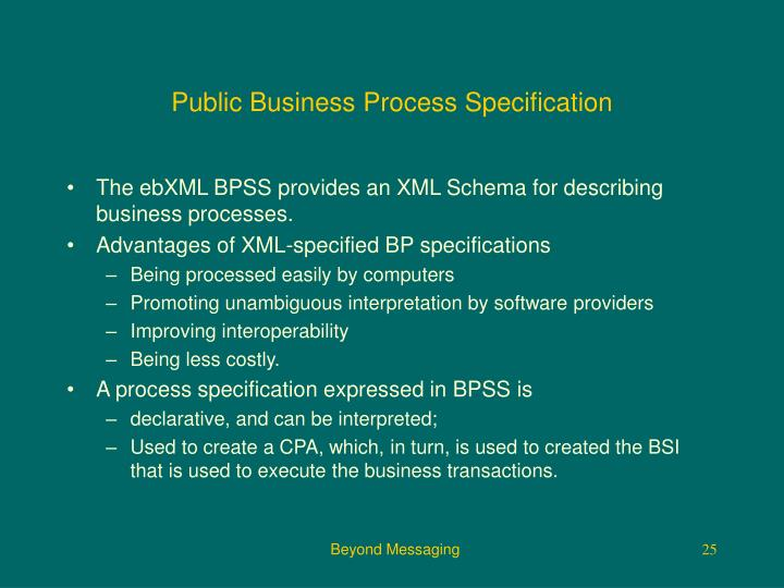 Public Business Process Specification