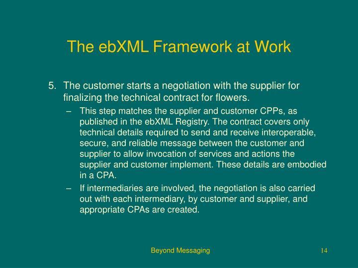 The ebXML Framework at Work
