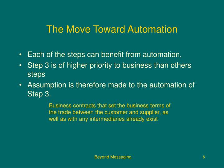The Move Toward Automation