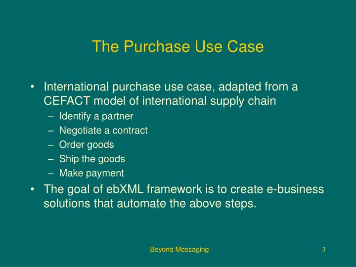 The purchase use case