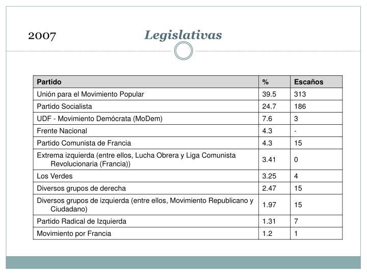 Legislativas