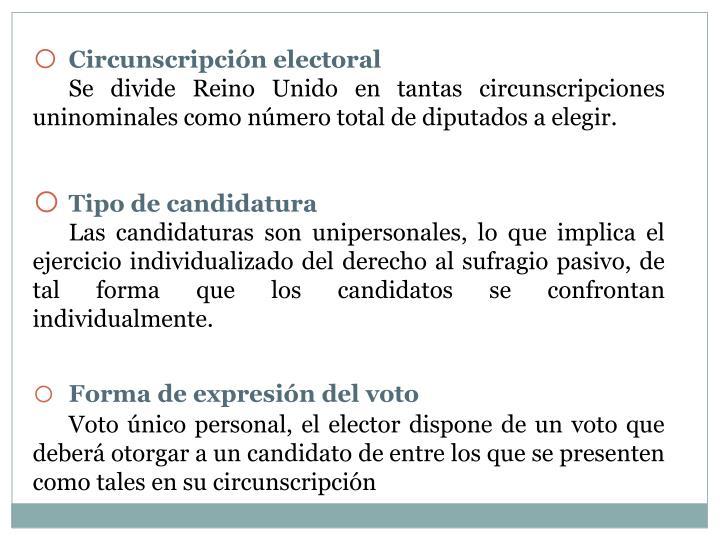 Circunscripción electoral