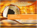south africa s investment environment