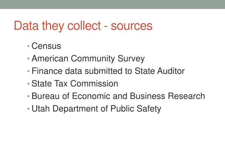 Data they collect - sources