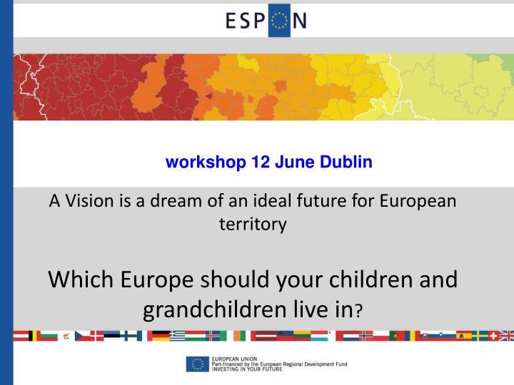 workshop 12 June Dublin