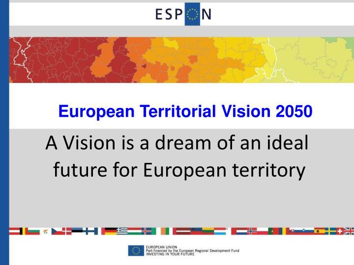 European Territorial Vision 2050