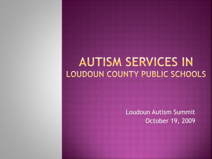 Autism Services in