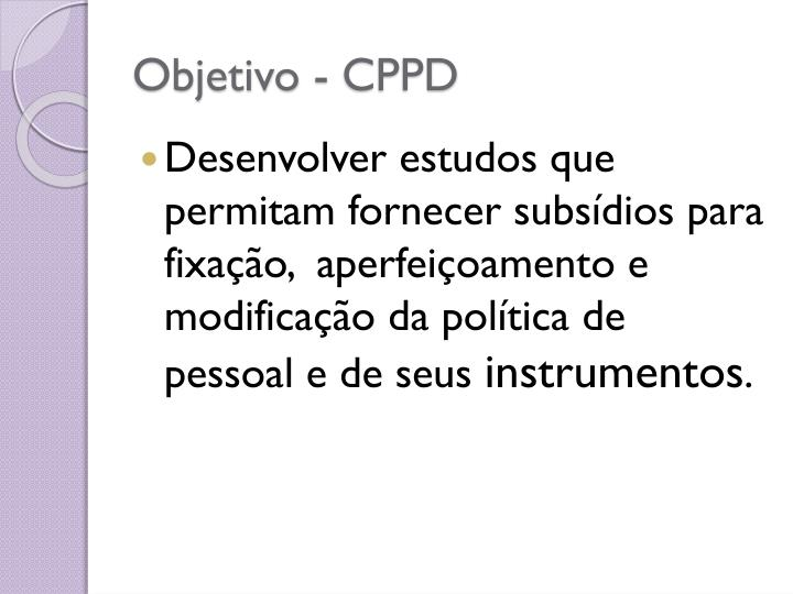 Objetivo - CPPD