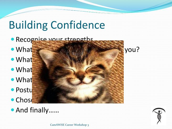 Building Confidence