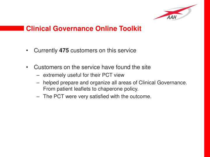 Clinical Governance Online Toolkit