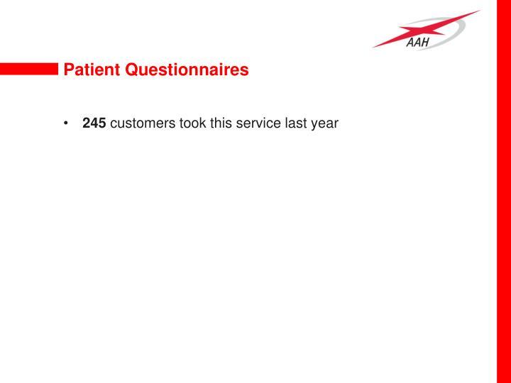 Patient Questionnaires
