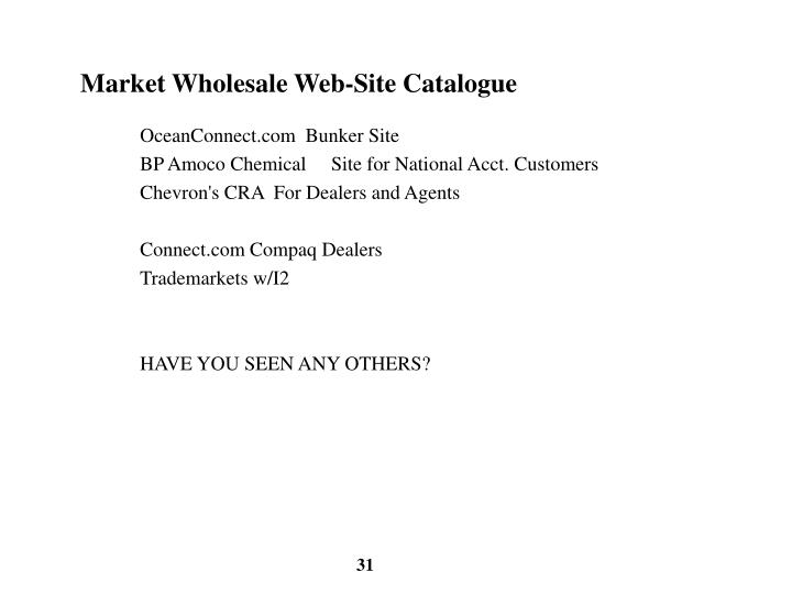 Market Wholesale Web-Site Catalogue