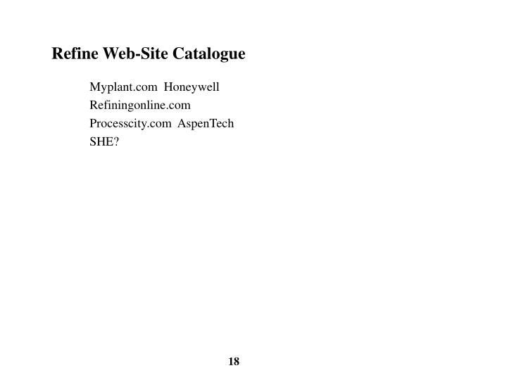 Refine Web-Site Catalogue