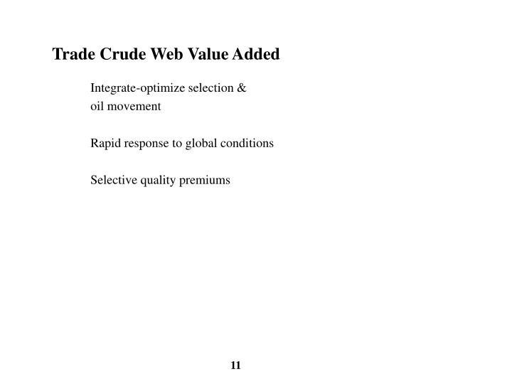 Trade Crude Web Value Added