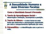 a sexualidade humana e suas diversas facetas