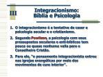 integracionismo b blia e psicologia