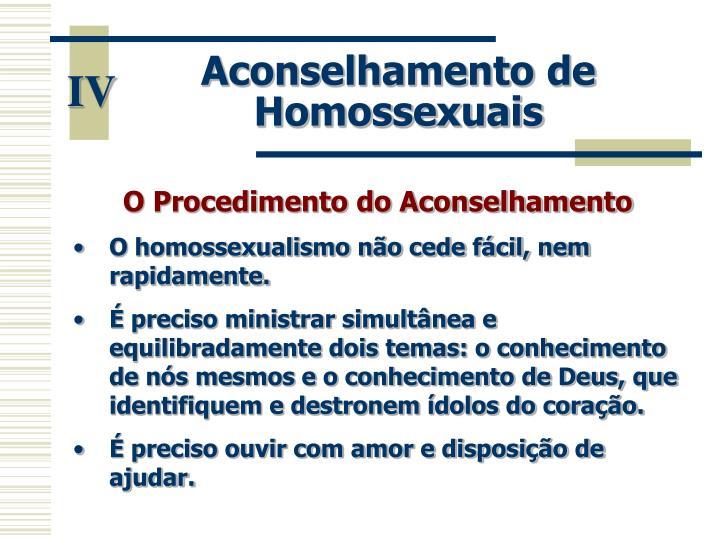 Aconselhamento de Homossexuais