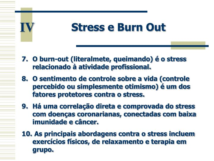 Stress e Burn Out