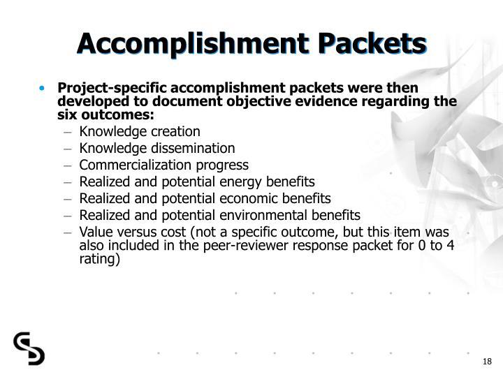 Accomplishment Packets