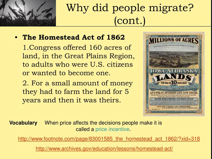 Ppt bigger better faster the changing nation for Kansas homestead act