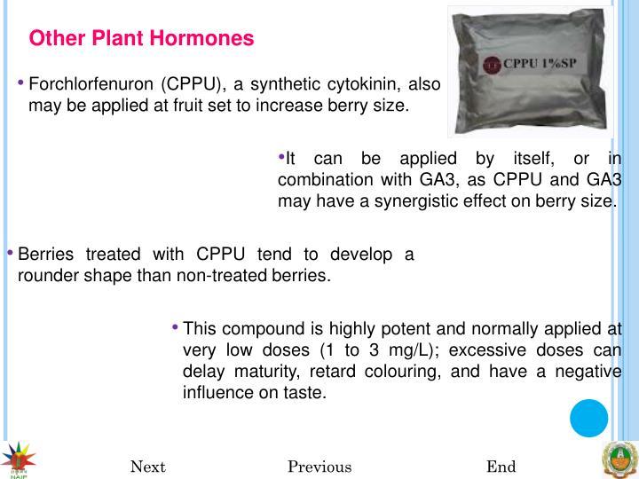 Other Plant Hormones