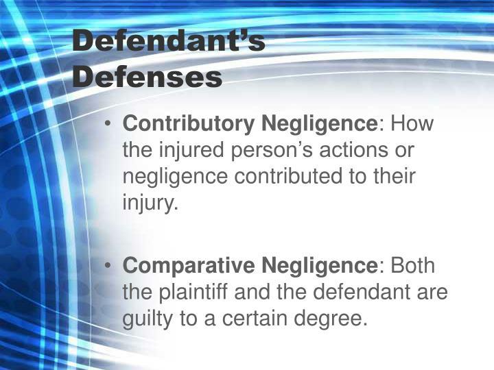 Defendant's Defenses