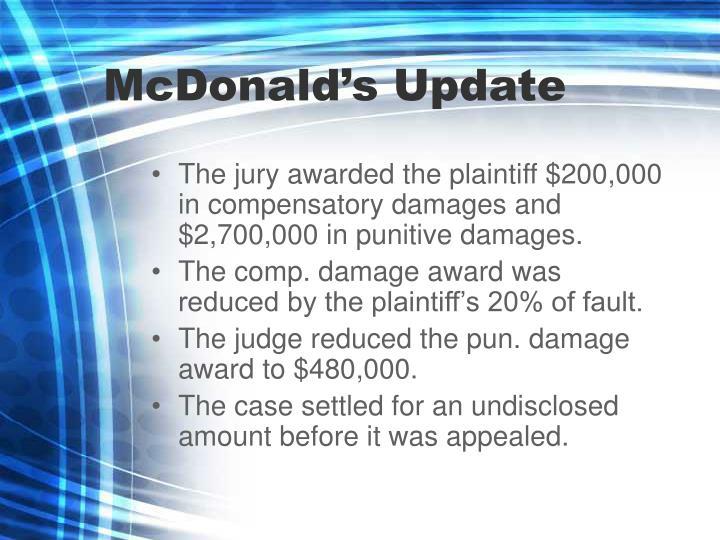 McDonald's Update