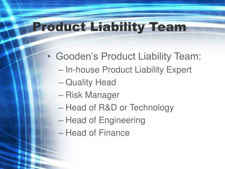 Product Liability Team