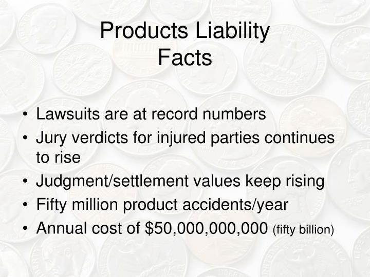 Products liability facts