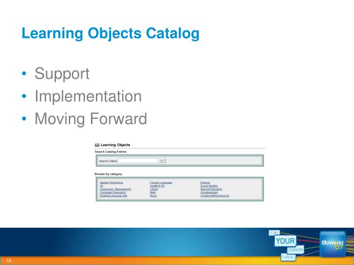 Learning Objects Catalog