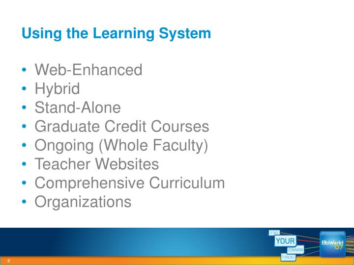 Using the Learning System