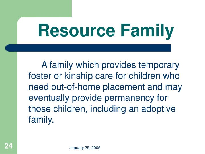Resource Family