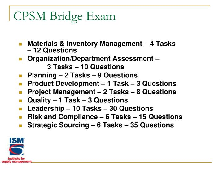 CPSM Bridge Exam