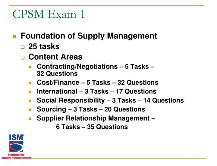 CPSM Exam 1