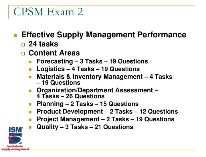 CPSM Exam 2