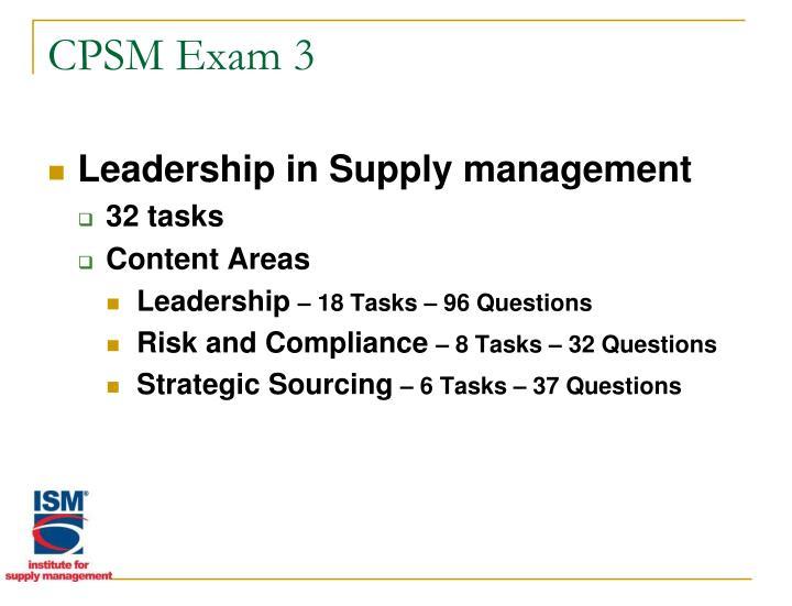 CPSM Exam 3