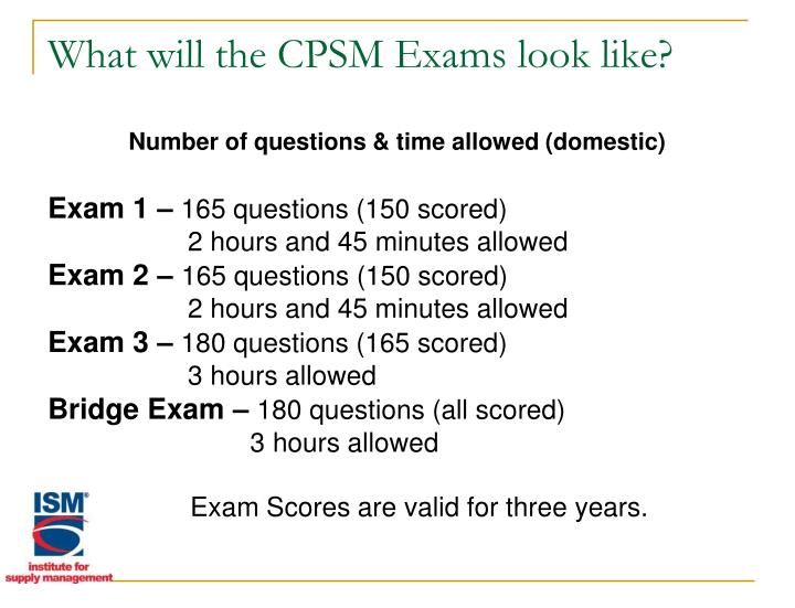 What will the CPSM Exams look like?