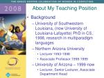 about my teaching position1