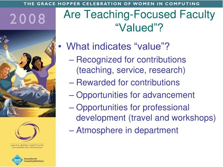"Are Teaching-Focused Faculty ""Valued""?"