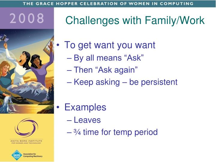 Challenges with Family/Work